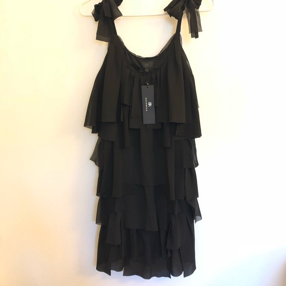 81a50c42f60 Black fringe cocktail dress